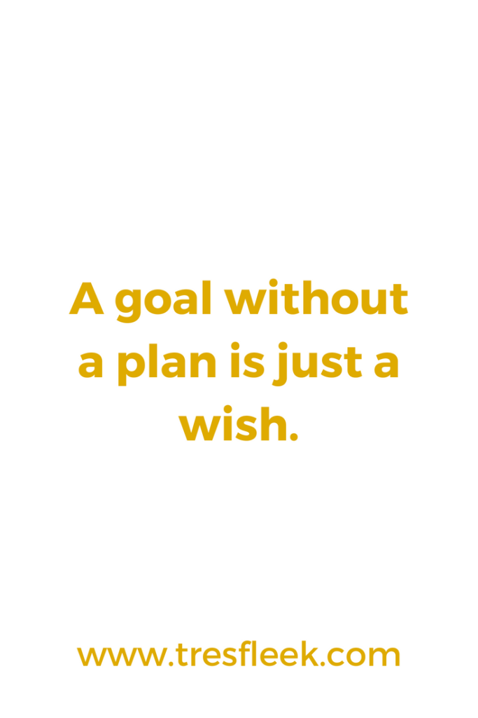 A goal without a plan is just a wish. | Goal Setting Quotes