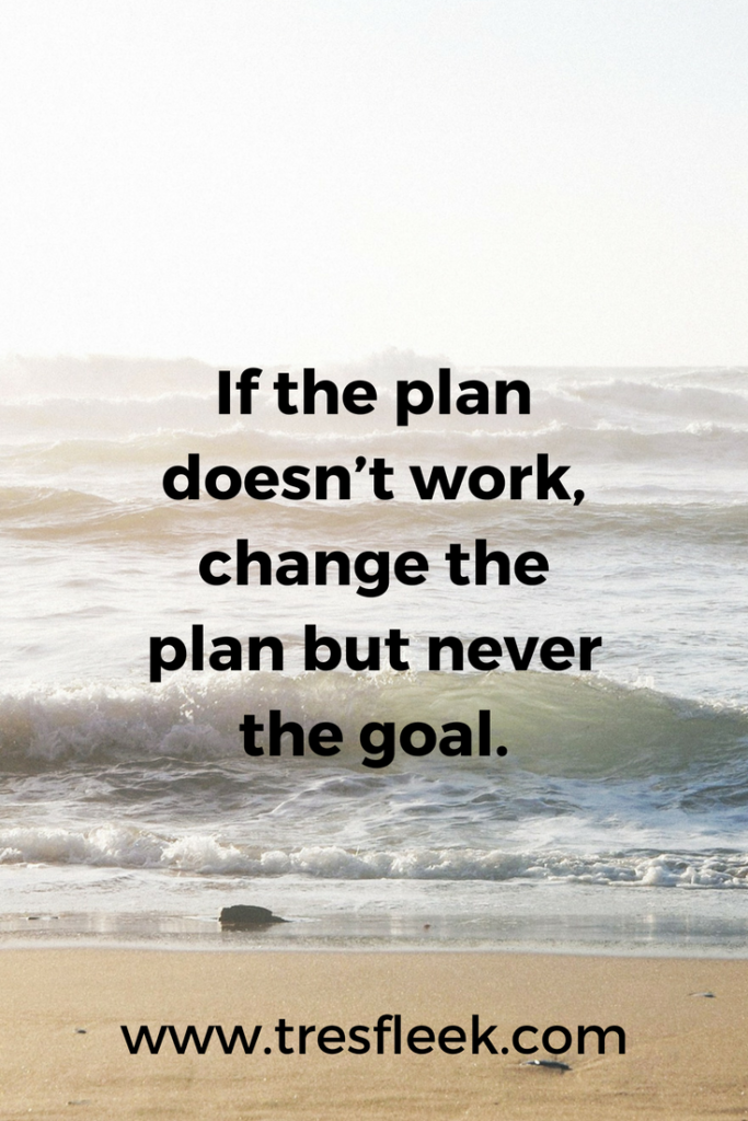 If the plan doesn't work, change the plan but never the goal. | Goal Setting Quotes
