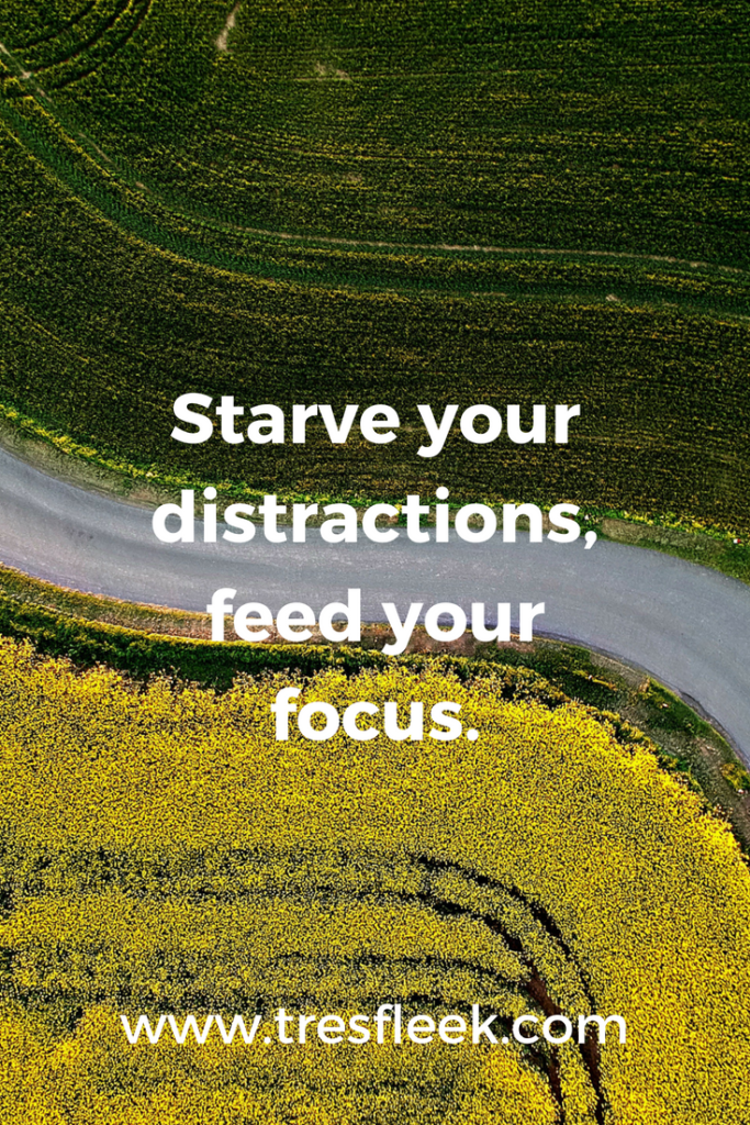 Starve your distractions, feed your focus | Goal Setting Quotes